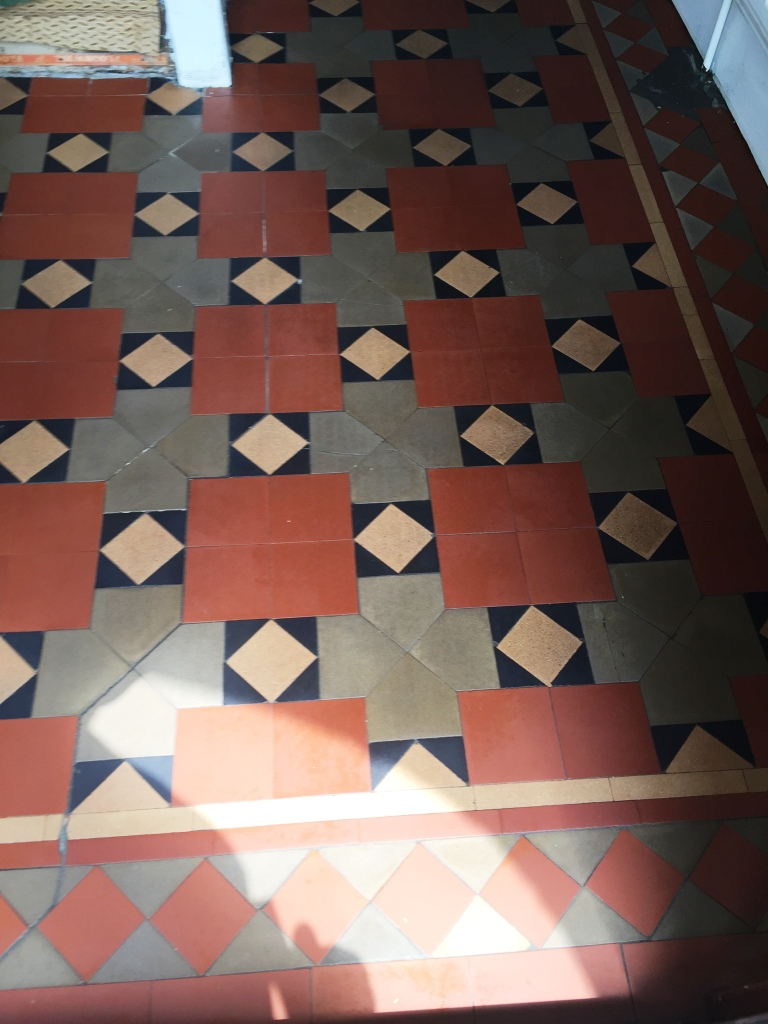 victorian tiled floor after refurbishment in coundon