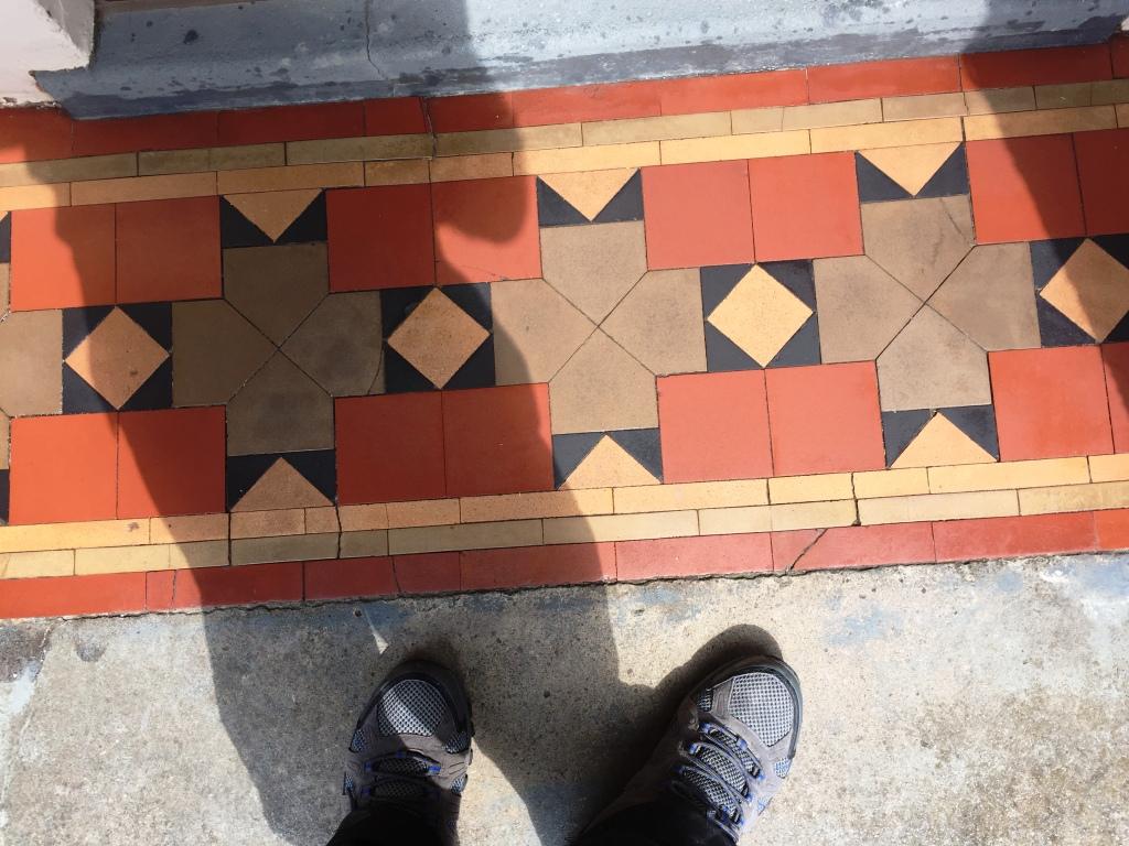 victorian tiled floor after refurbishment in coundon