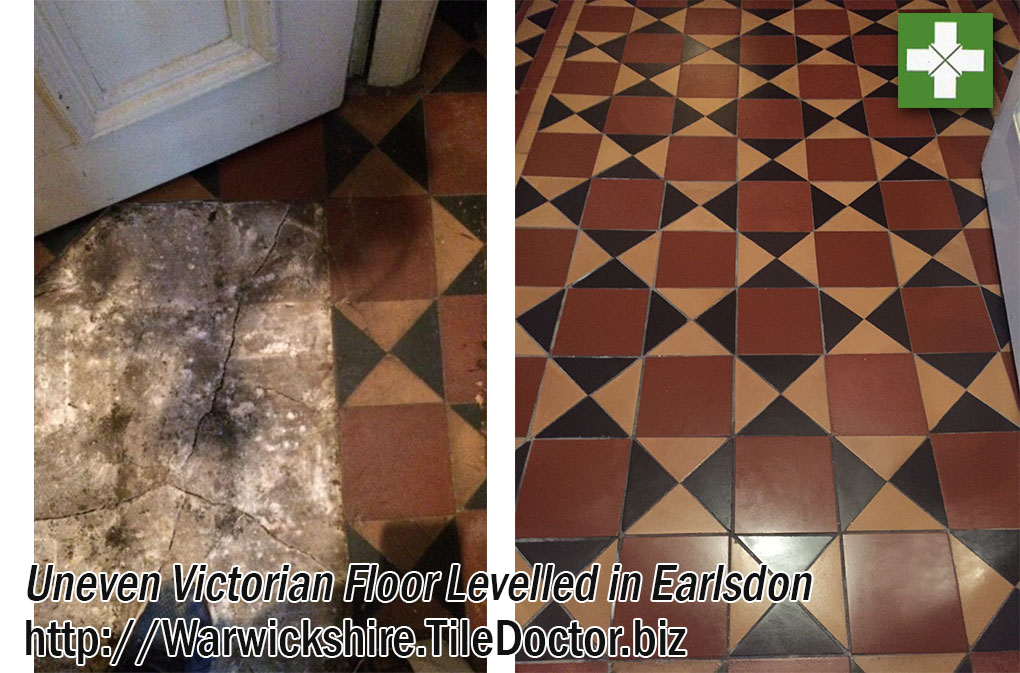 Damaged Victorian Hallway Floor Cleaned and Rebuilt in Earlsdon