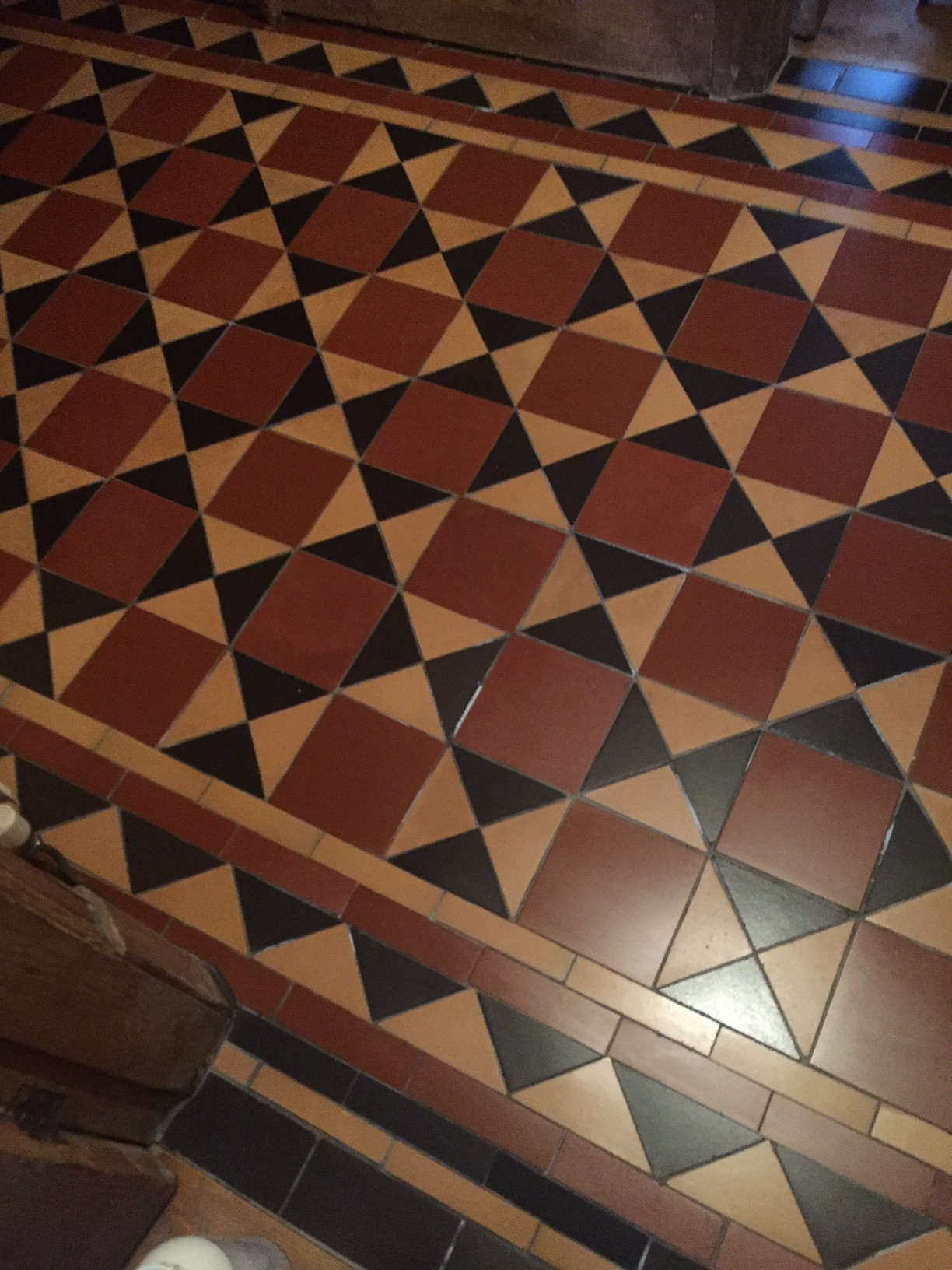 Victorian Tiled Floor After Rebuild Earlsdon