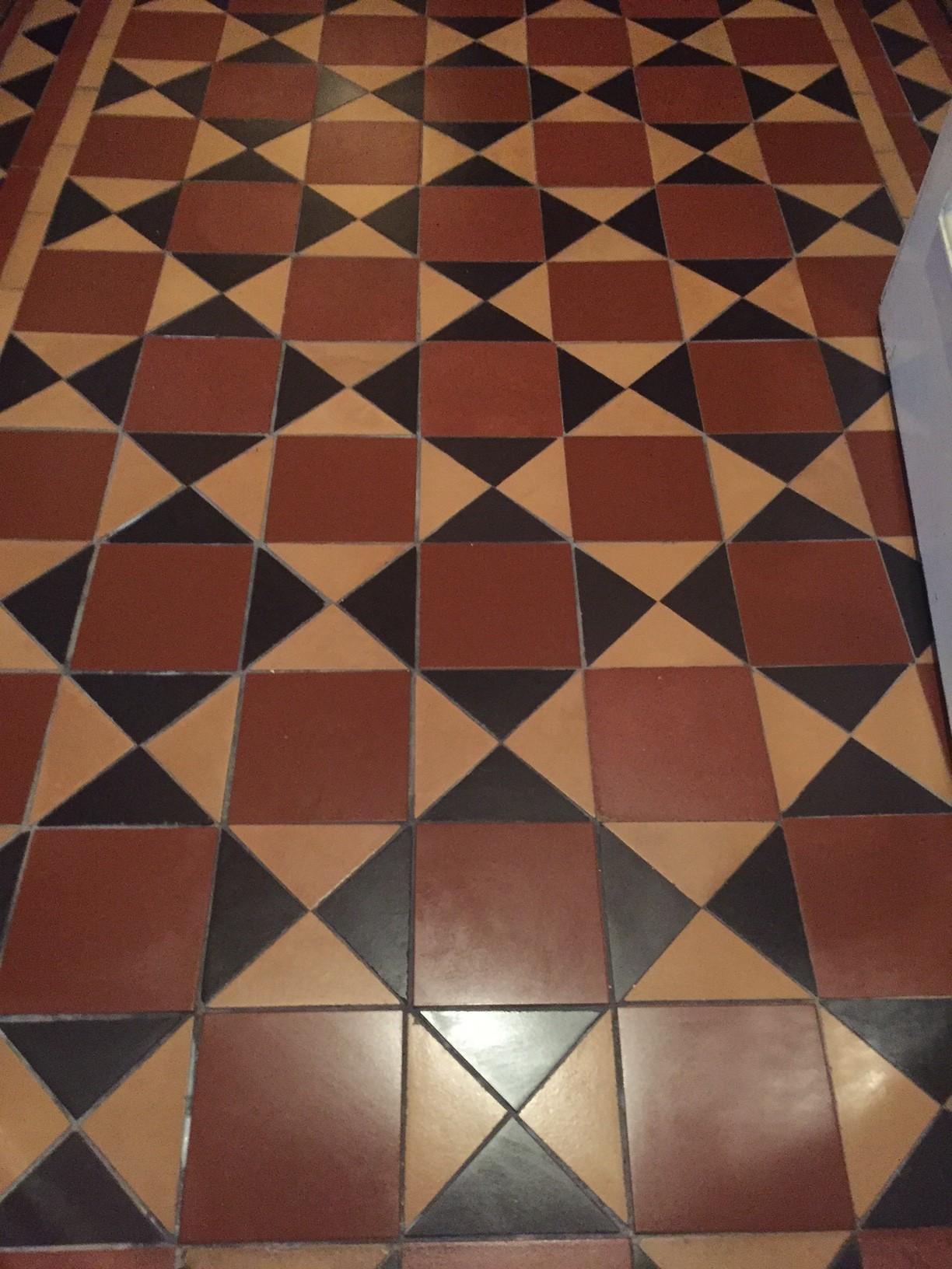 Victorian Tiled Floor After Rebuild Earlsdon