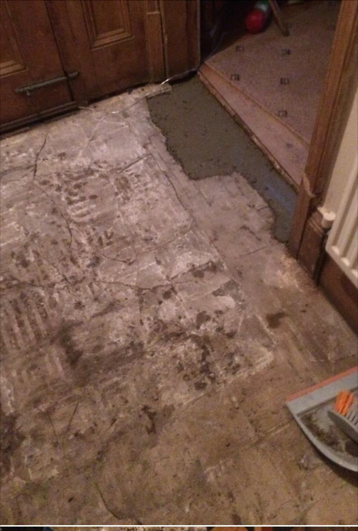 Victorian Tiled Floor Before Rebuild Earlsdon