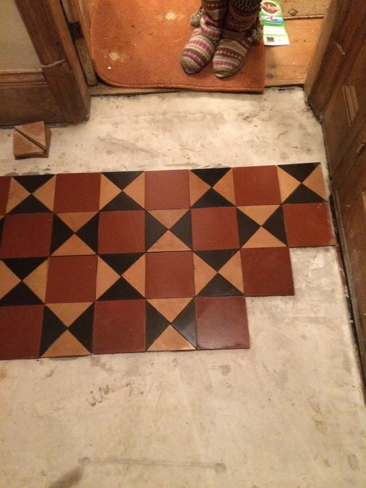 Victorian Tiled Floor During Rebuild Earlsdon