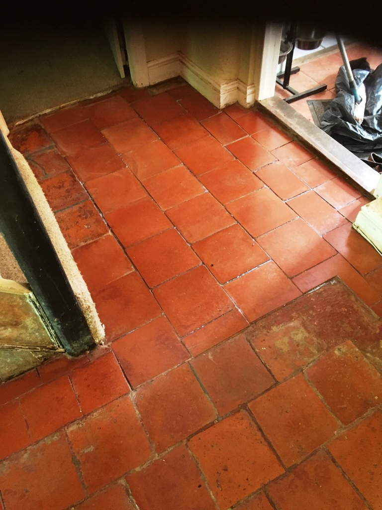 Quarry Tiled Floor Thatched Cottage in Rugby After