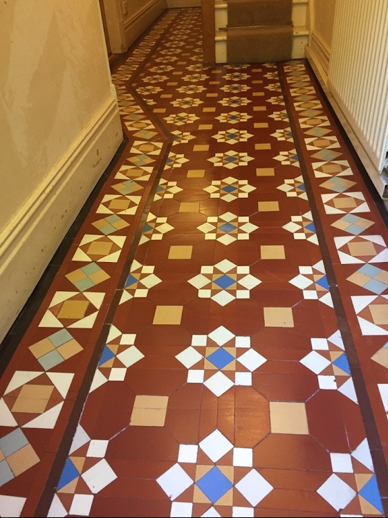 Victorian Hallway Floor After Restoration Rugby