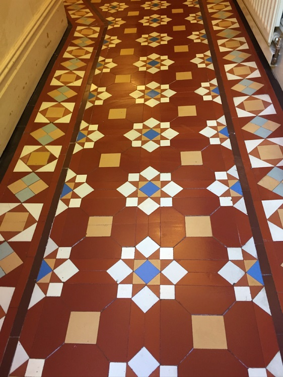Victorian Hallway Floor After Restoration Rugby