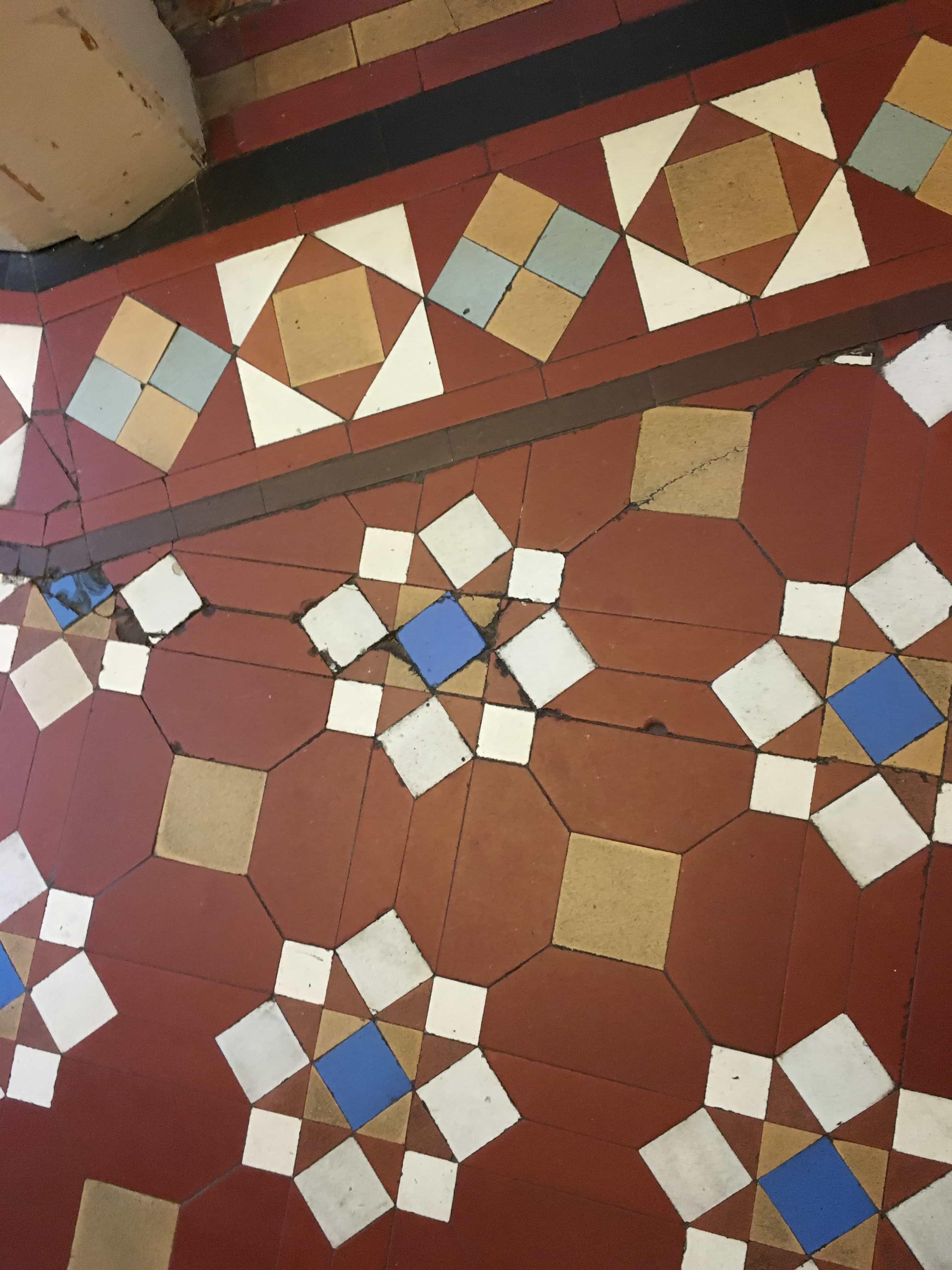 Victorian Hallway Floor Before Restoration Rugby