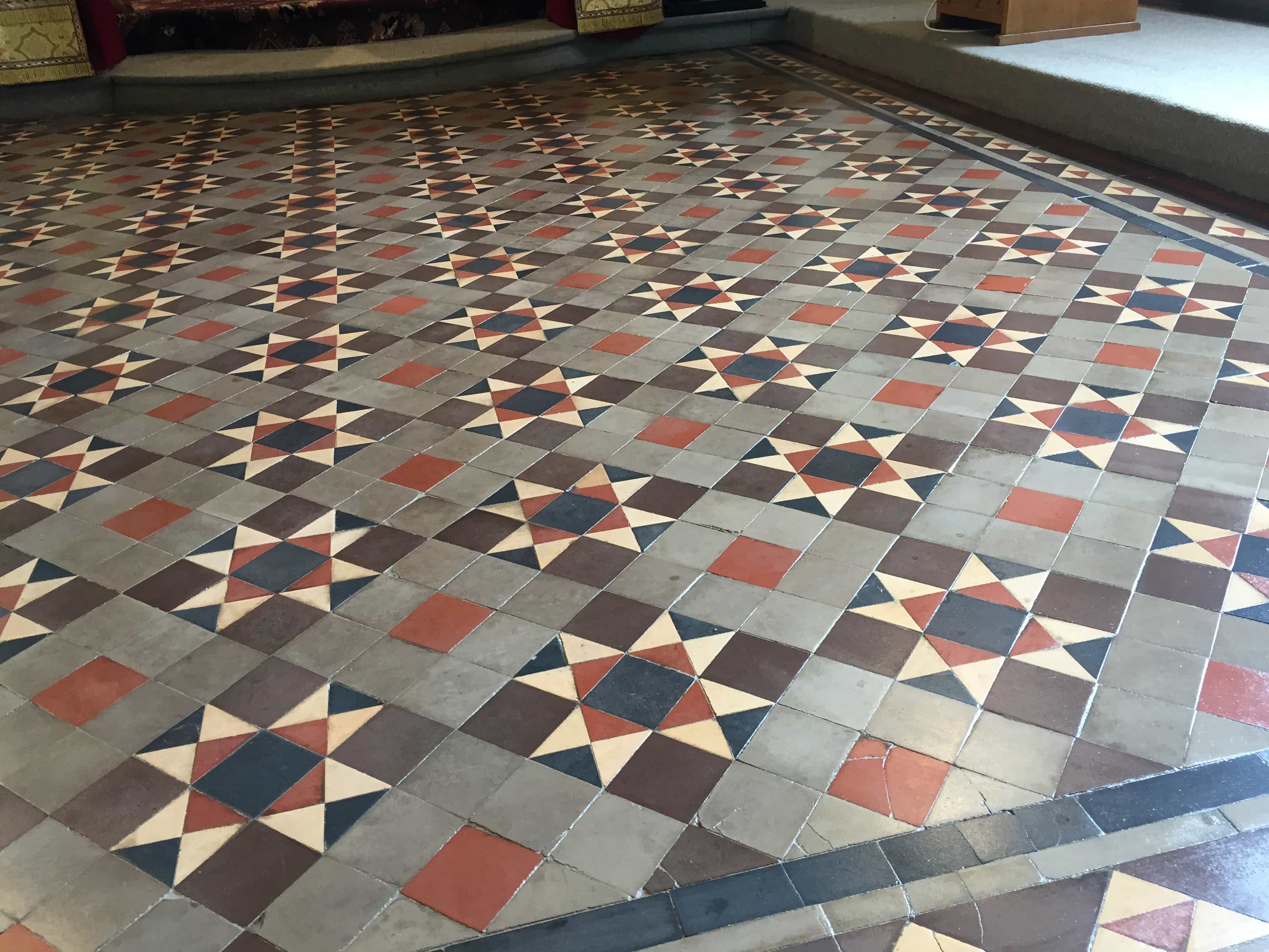 Victorian Church Floor After Repairs