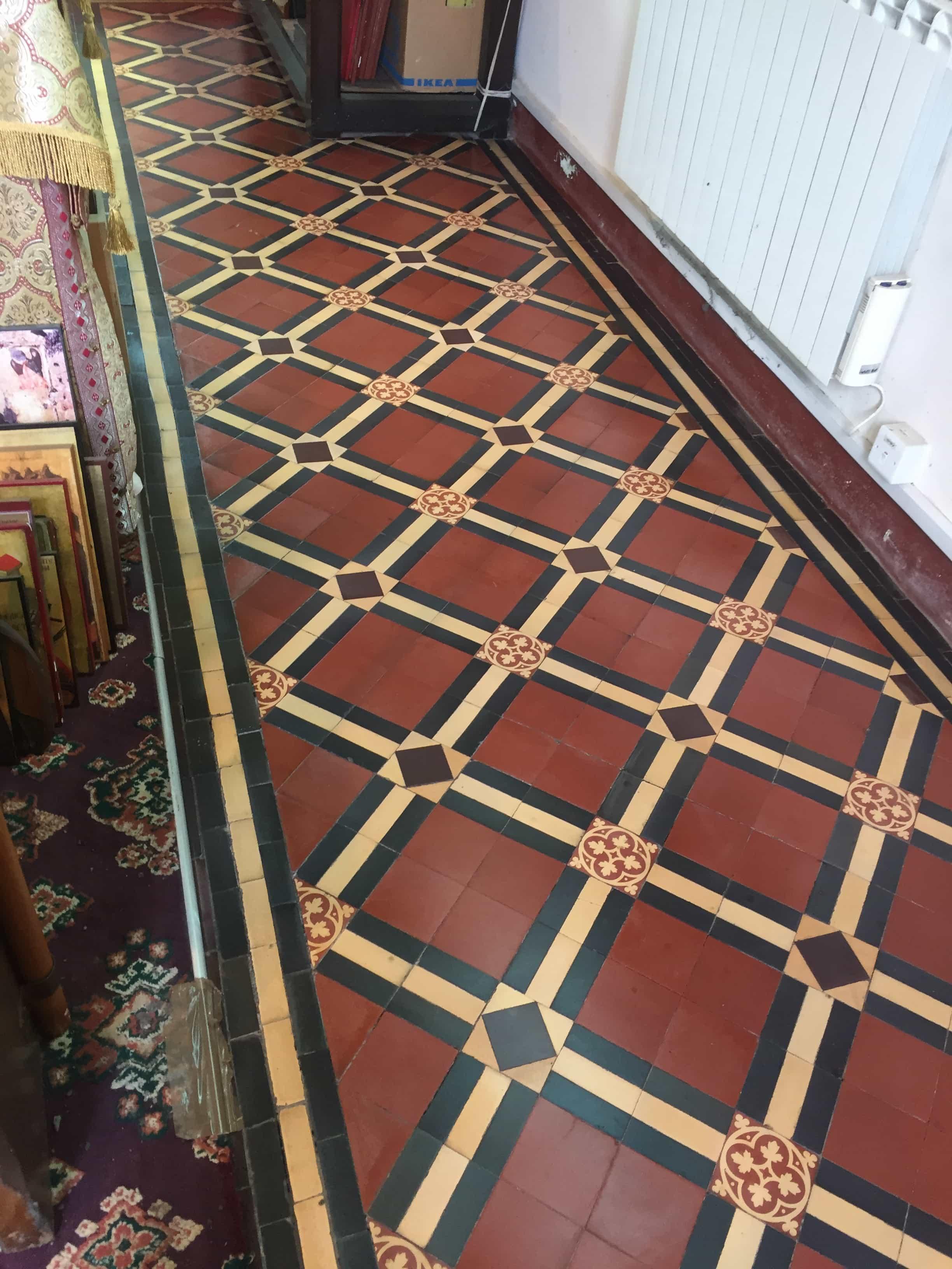 Victorian Church Floor After Restoration