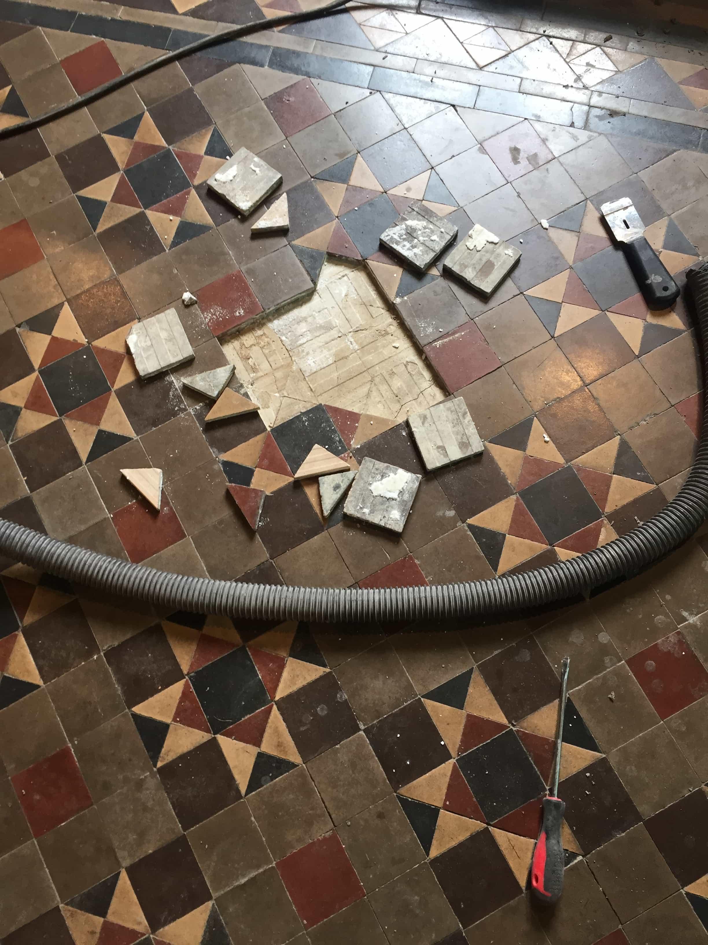 Victorian Church Floor Rugby During Repair