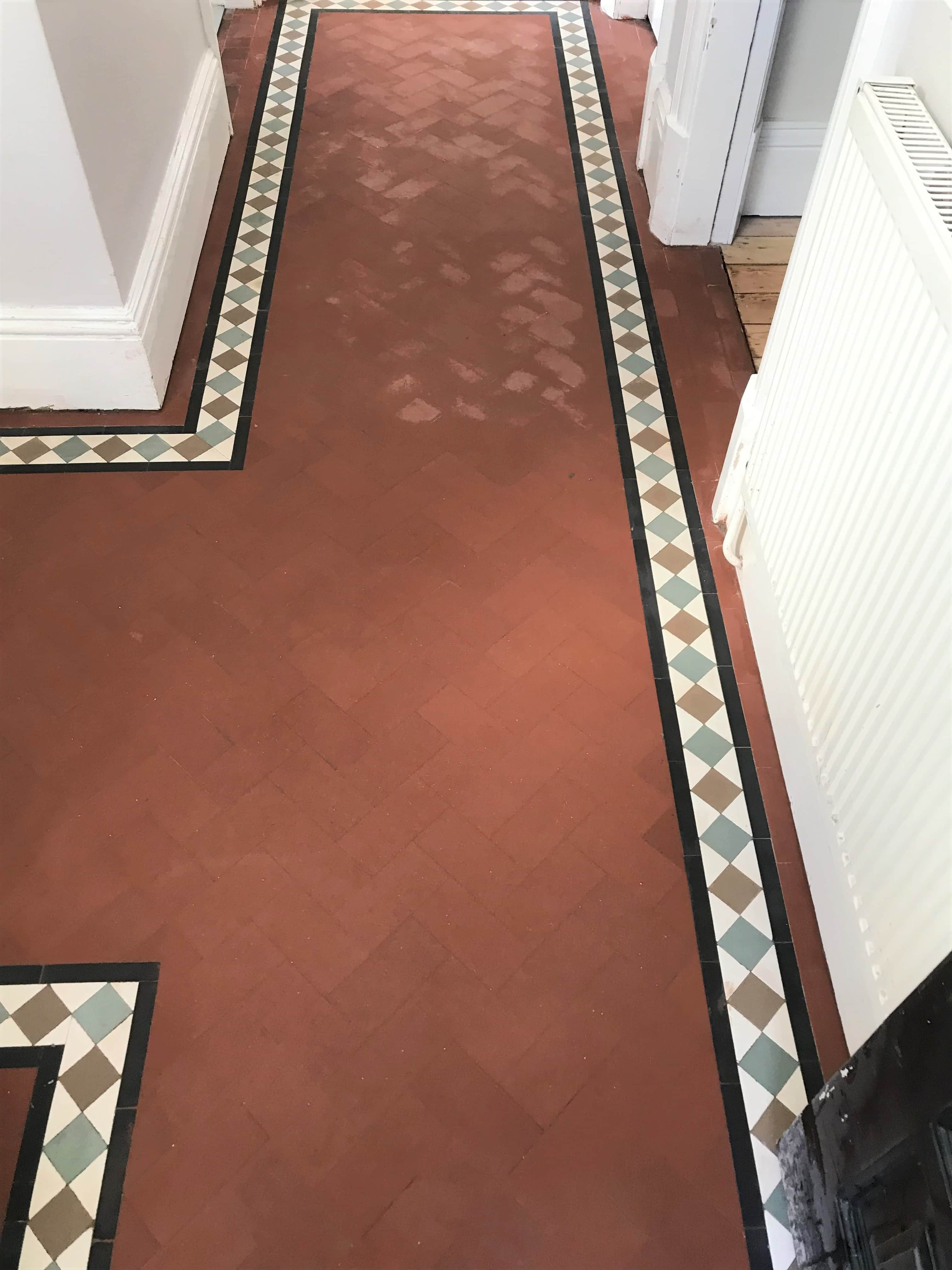 Victorian Geometric Floor Stoke Coventry After Cleaning