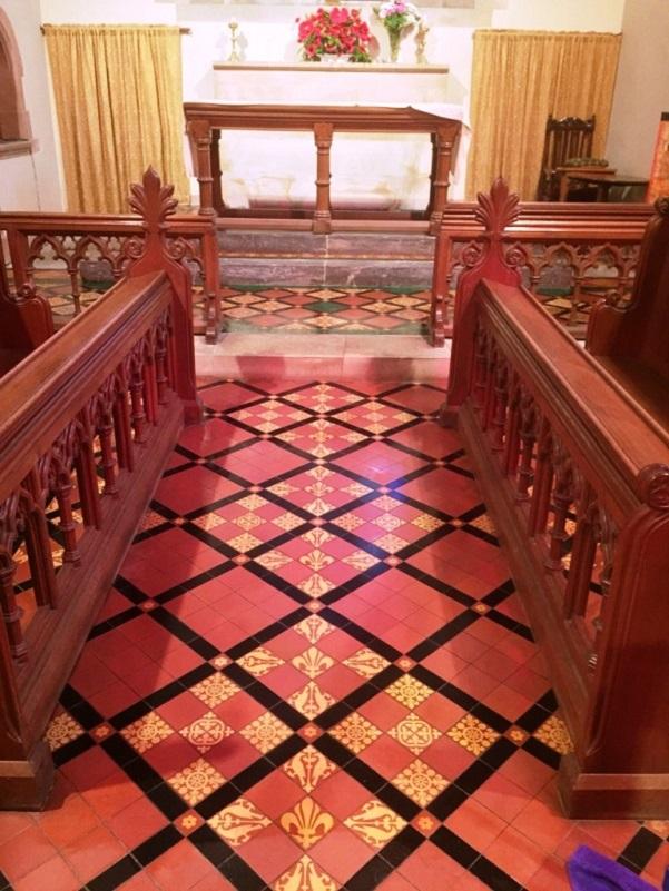 Victorian Floor Tiles Frankton Church After Sealing