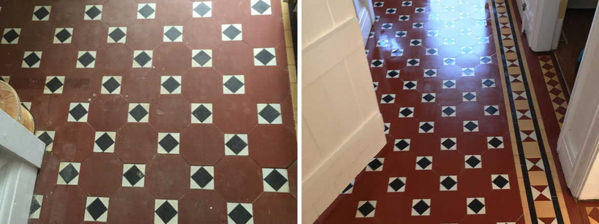 Beautiful Victorian Tiled Hallway Repaired and Restored in Wyken