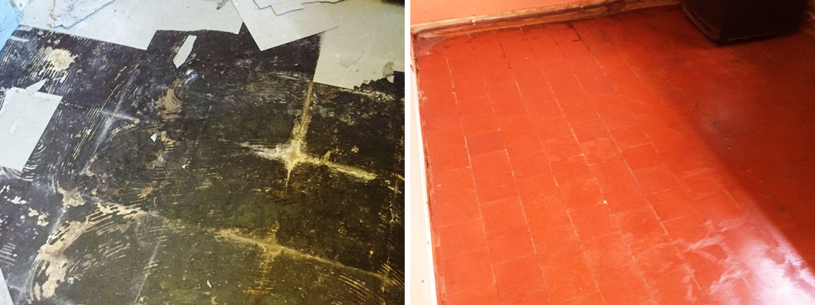 Hidden Quarry Tiled Floor Restored to Fantastic Condition in Canley