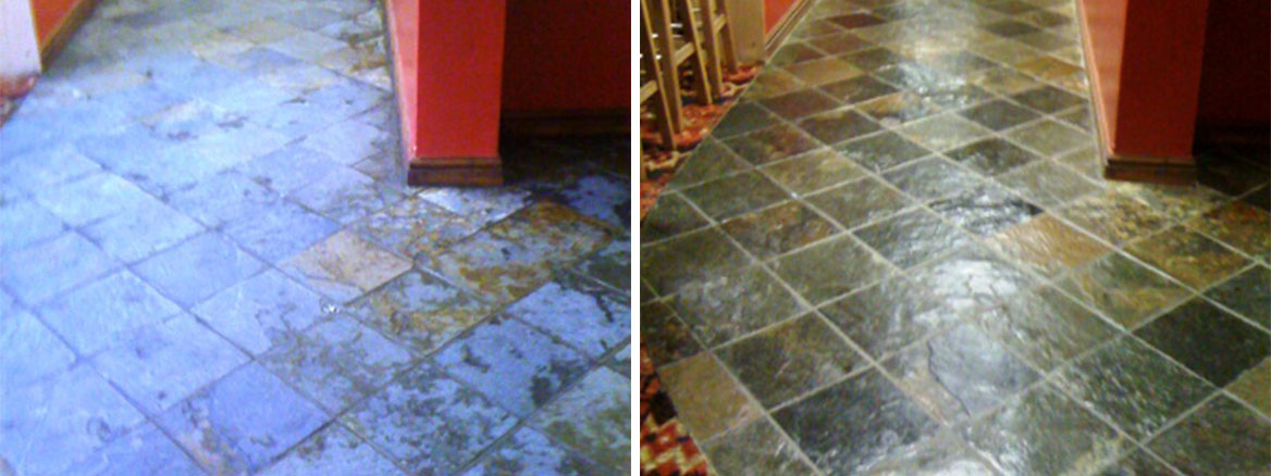 Slate Floor triumph club Before and After