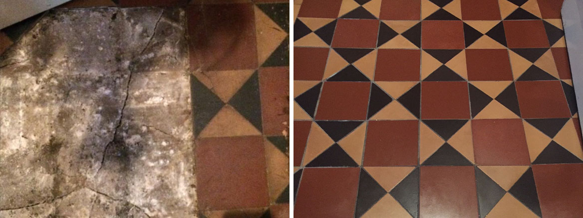 Rebuilding and Restoring a Damaged Victorian Tiled Floor in Earlsdon