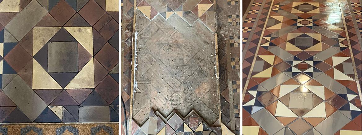 Victorian Hallway Floor Restoration in Bedworth