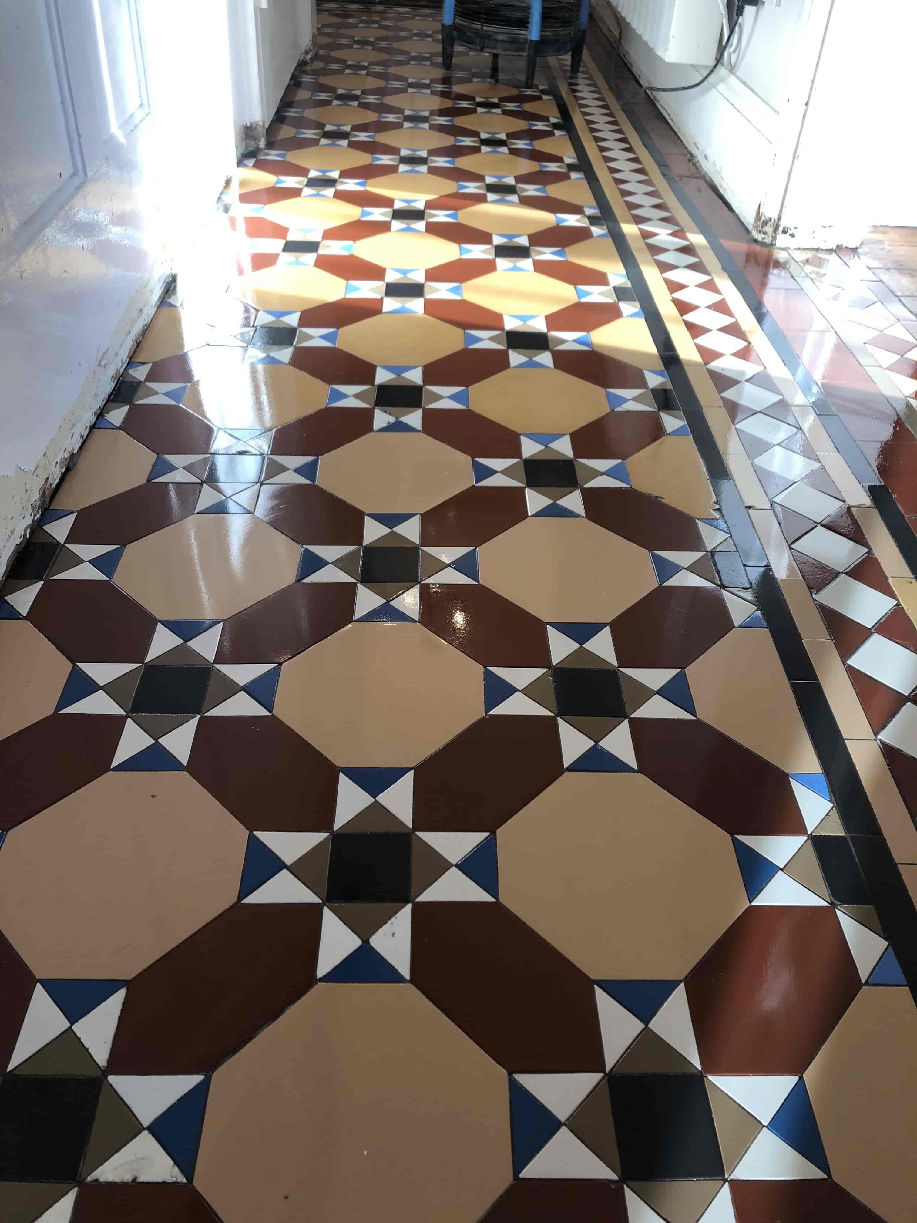 Victorian Hallway After Craven Dunnill Tile Rebuild Stoke Golding Nuneaton