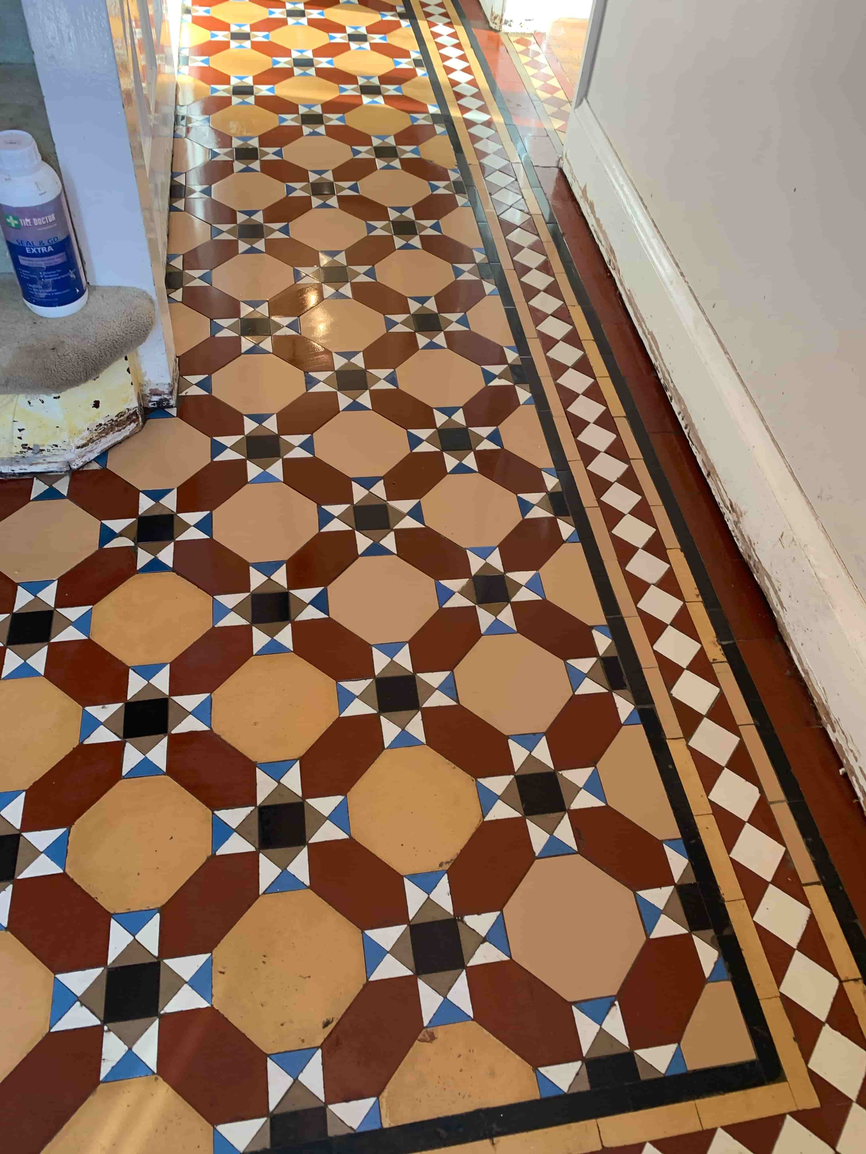 Victorian Hallway After Craven Dunnill Tile Rebuild Stoke Golding Nuneaton