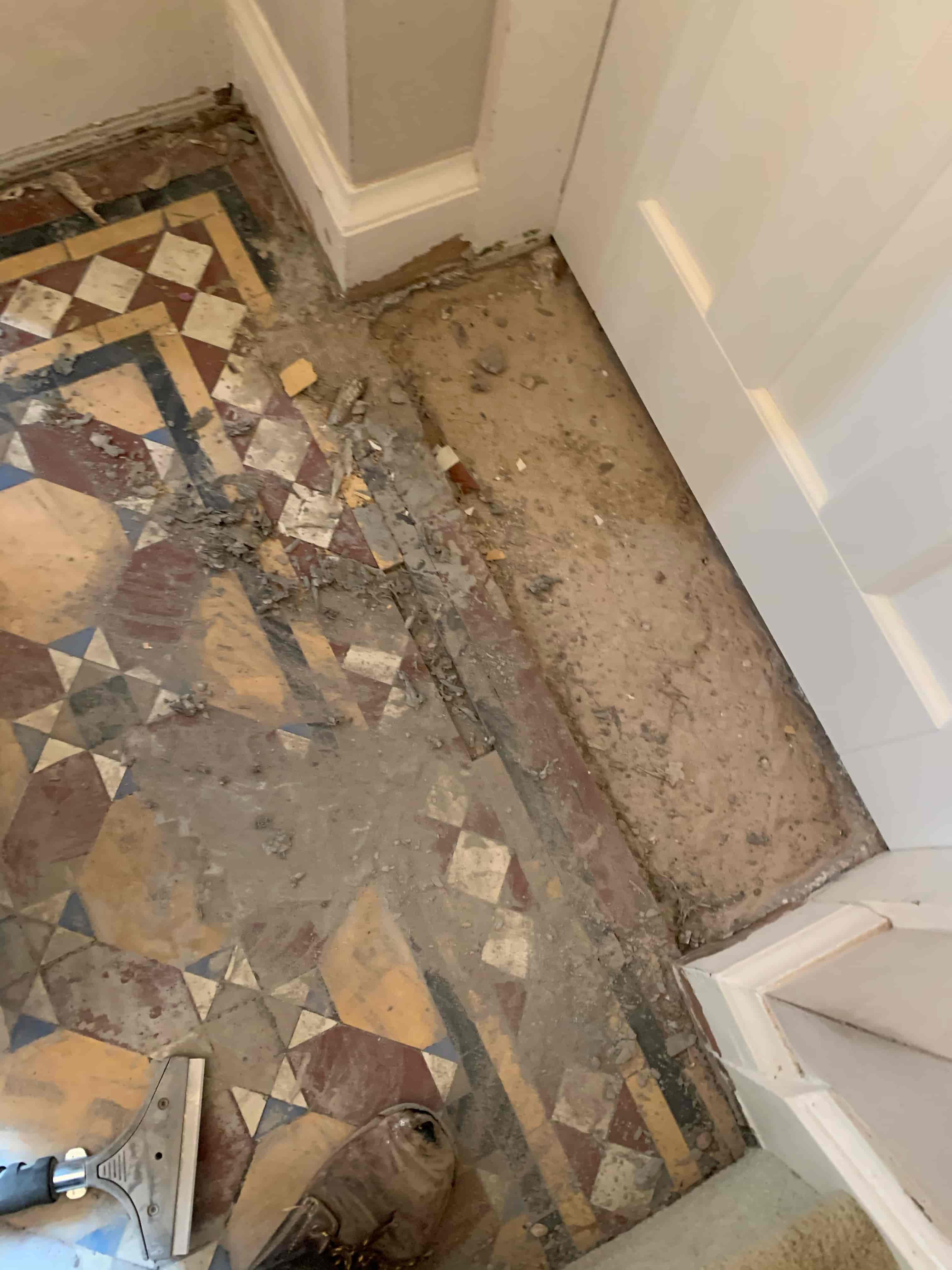 Victorian Hallway Before Craven Dunnill Tile Rebuild Stoke Golding Nuneaton